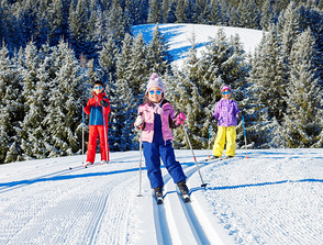 Where to go cross-country skiing with children in the Giant Mountains