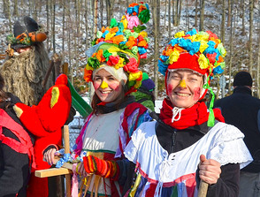 Cheerful carnival trail